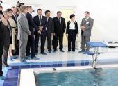 Эдхам Акбулатов посетил церемонию открытия бассейна СибГТУ