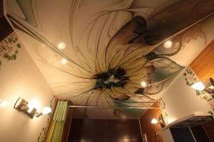 Арт-печать на натяжном потолке - новые веяния моды в строительстве в России