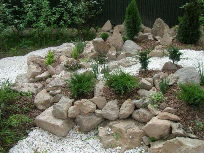 Каменные композиции в саду своими руками 973