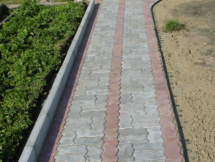 Бордюрный камень для тротуаров своими руками видео